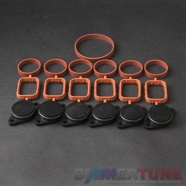 BMW swirl flap blanks 33mm 6pcs and manifold gaskets for 330d 335d 530d and other