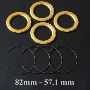 BBS wheel hub centric ring set 82 to 57.1 MM