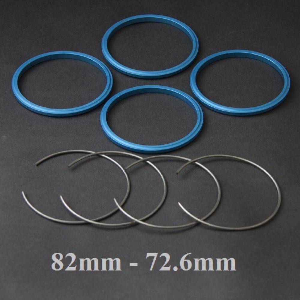 BBS wheel hub centric ring set 82 to 72.6 MM