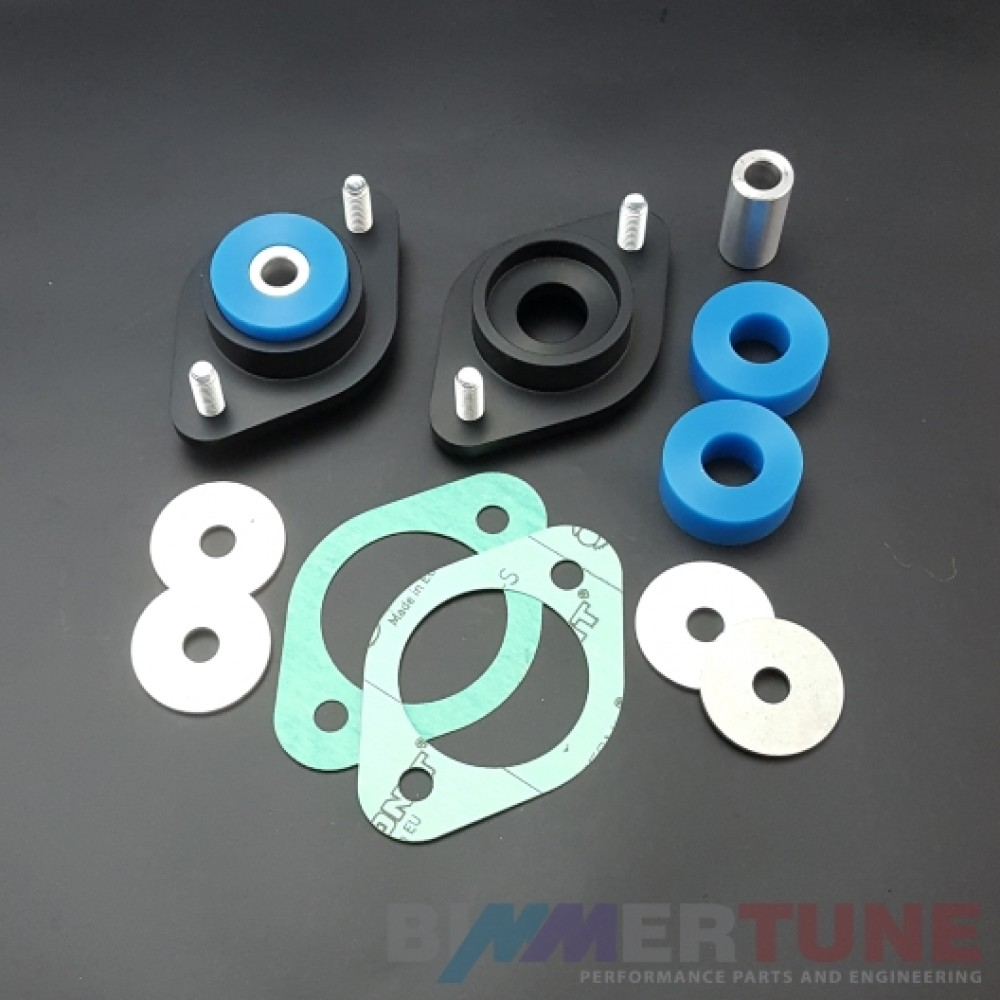 BMW uprated rear shock top mounts poly inserts for E30 E36 Z3 and other models